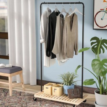 Awesome Diy Small Bedroom Design Ideas With Close Clothing Rack 14