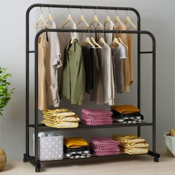 Awesome Diy Small Bedroom Design Ideas With Close Clothing Rack 40