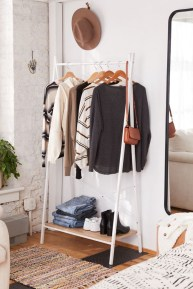Awesome Diy Small Bedroom Design Ideas With Close Clothing Rack 45