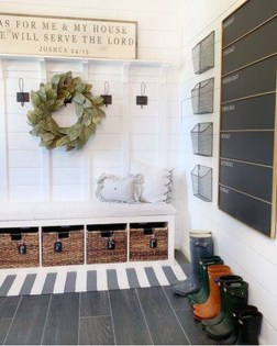 Awesome Farmhouse Mudroom Decorating Ideas To Try Asap 23