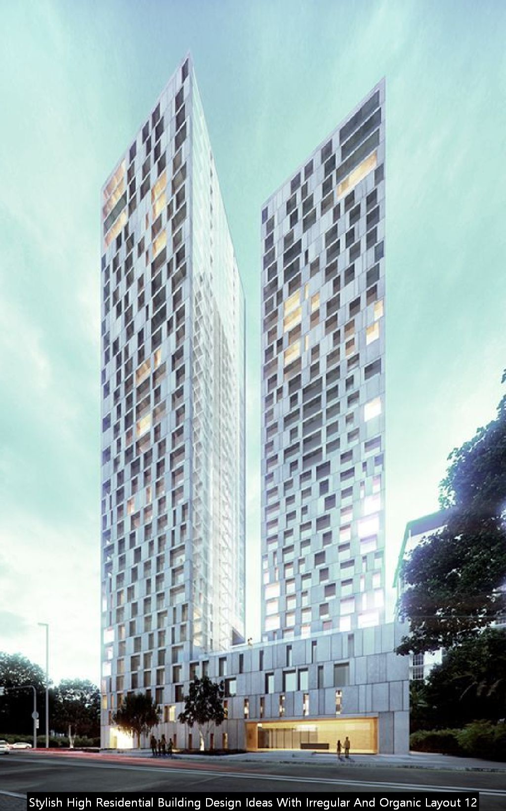 Stylish High Residential Building Design Ideas With Irregular And Organic Layout 12