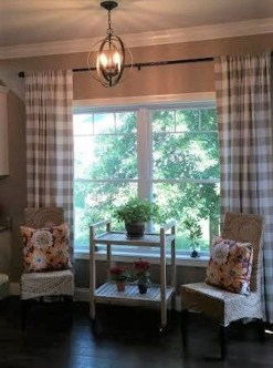 Wonderful Farmhouse Curtains Decor Ideas For Living Room To Try Asap 35