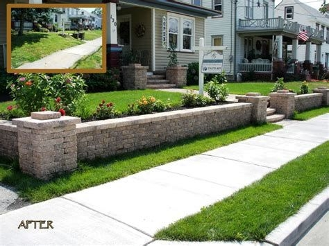Lovely Retaining Wall Ideas For Sloped Front Yard 16