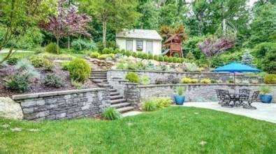 Totally Cute Sloped Backyard Landscaping Ideas 03