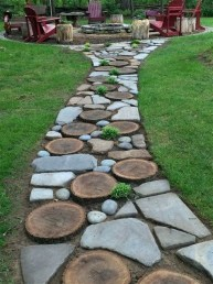 Totally Inspiring Front Yard Pathway Ideas 11
