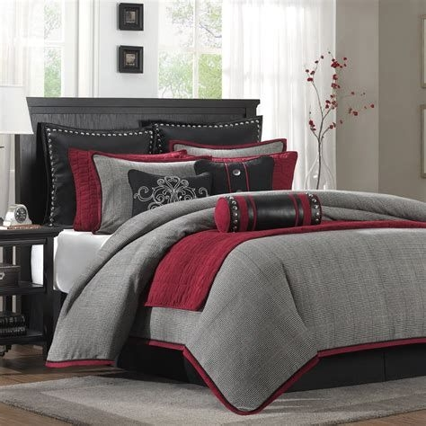 Awesome Burgundy And Grey Bedroom Ideas 10