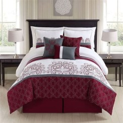 Awesome Burgundy And Grey Bedroom Ideas 27