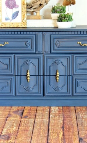 Cool Navy Painted Bedroom Furniture Ideas 22