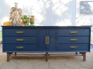 Cool Navy Painted Bedroom Furniture Ideas 25