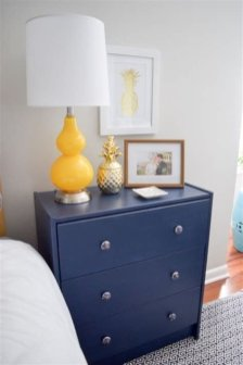 Cool Navy Painted Bedroom Furniture Ideas 33