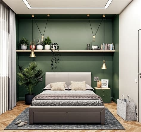 Creative Sage Green Accent Wall Bedroom Ideas 08