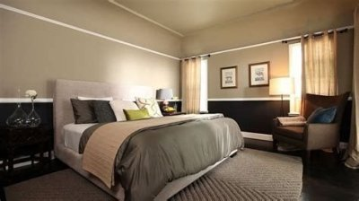 Lovely Two Tone Bedroom Paint Ideas 12