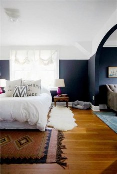 Lovely Two Tone Bedroom Paint Ideas 25