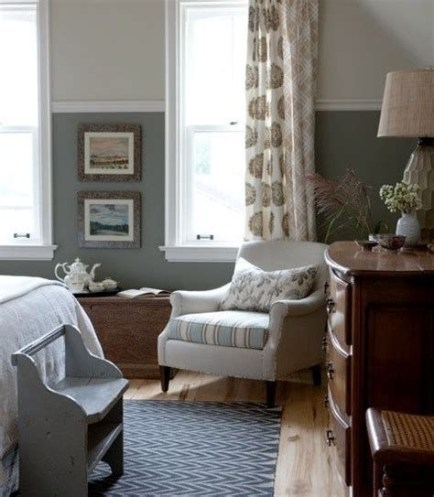 Lovely Two Tone Bedroom Paint Ideas 29