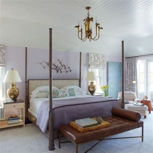 Lovely Two Tone Bedroom Paint Ideas 39