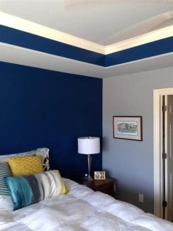 Lovely Two Tone Bedroom Paint Ideas 40