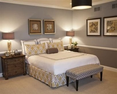Lovely Two Tone Bedroom Paint Ideas 41