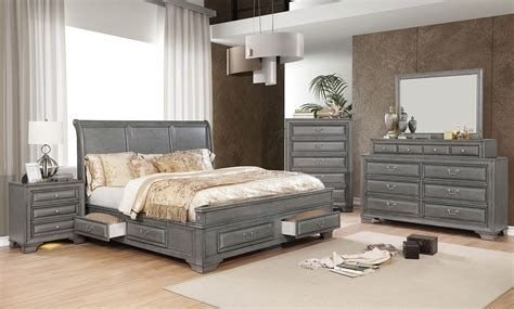 Totally Cute Charcoal Grey Bedroom Set Ideas 11