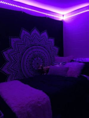 Most Popular Aesthetic Room With Led Lights Ideas 10