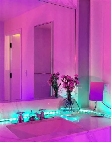 Most Popular Aesthetic Room With Led Lights Ideas 13