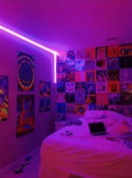 Most Popular Aesthetic Room With Led Lights Ideas 19
