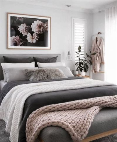 Awesome Grey And White Bedroom Ideas 10