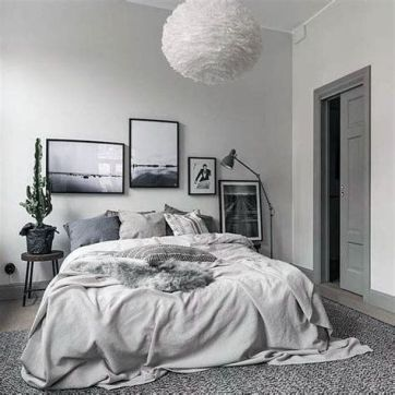 Awesome Grey And White Bedroom Ideas 22