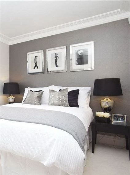 Awesome Grey And White Bedroom Ideas 26