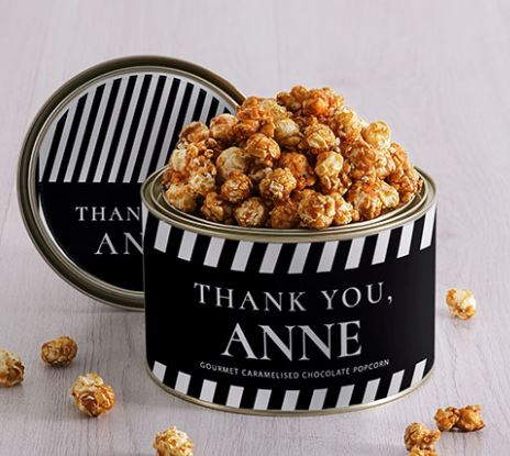 Personalised Thank You Popcorn Tin