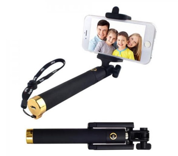 Carbon Fibre Selfie Stick (Gold)