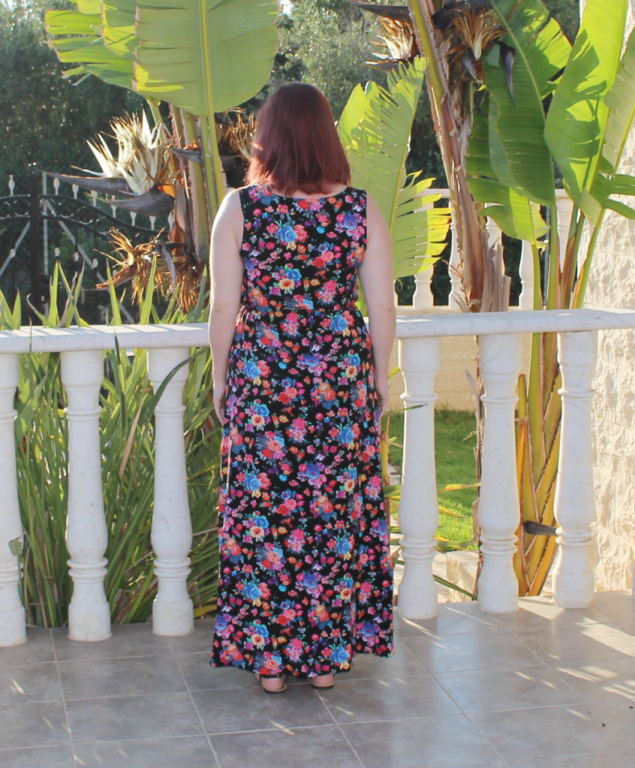 Back view of True Bias Southport dress