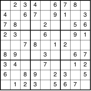 Sample Sudoku