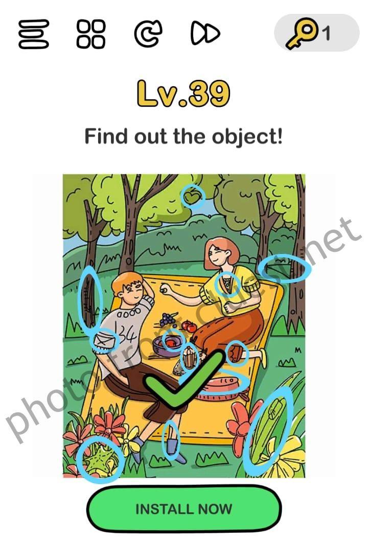 Brain Out 39 : brain, Object, Brain, Level, CLUEST