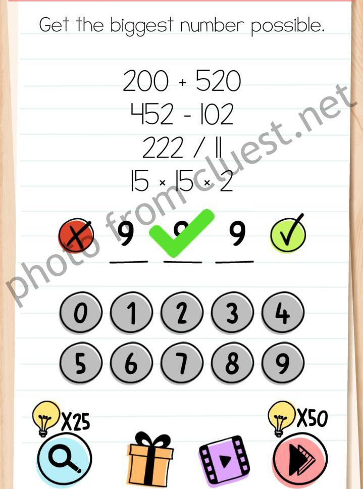 Brain Test Level 42 : brain, level, Brain, Level, Biggest, Number, Possible, Answers, CLUEST