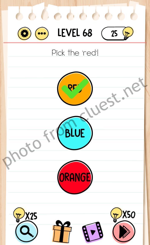Brain Test Level 68 : brain, level, Brain, Level, Answers, CLUEST