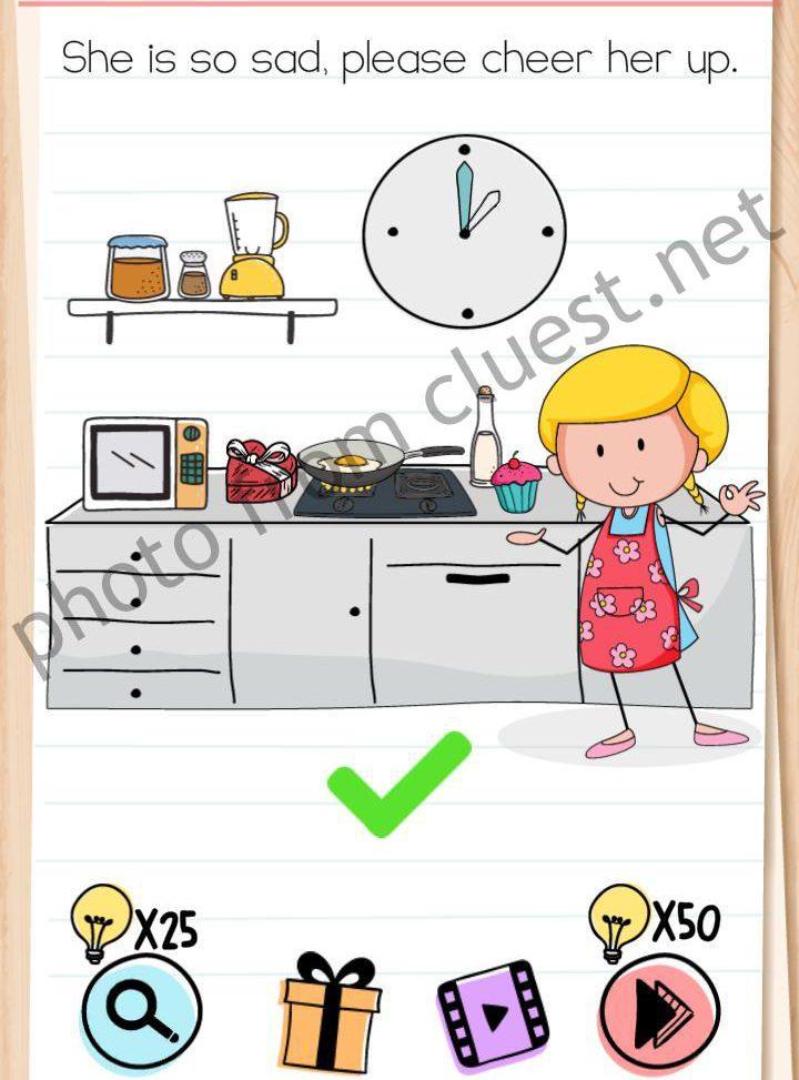 Jawaban Permainan Brain Test : jawaban, permainan, brain, Brain, Level, Please, Cheer, Answers, CLUEST