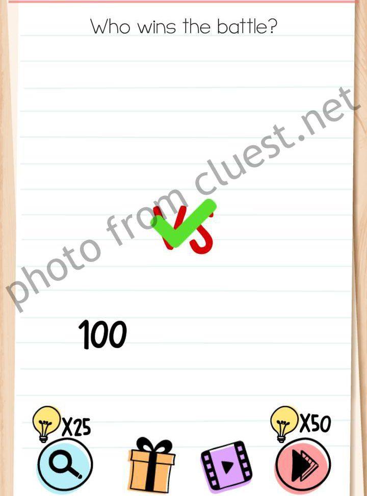 Jawaban Brain Test Level 95 : jawaban, brain, level, Brain, Level, Battle, Answers, CLUEST
