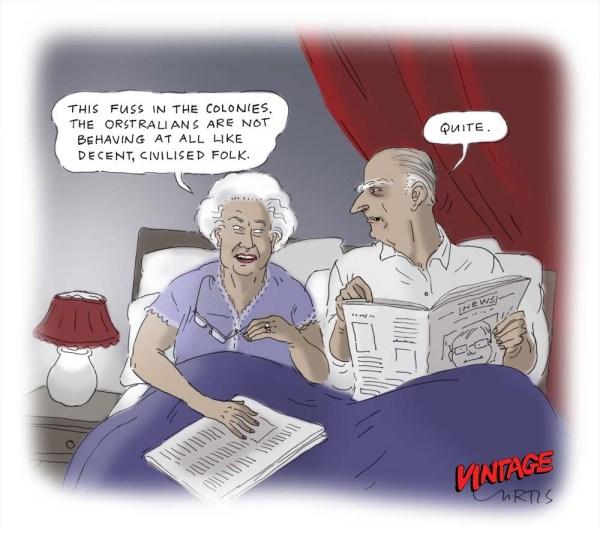 Funny Cartoon Queen Elizabeth