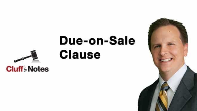 Due-on-Sale Clause Cluff Law