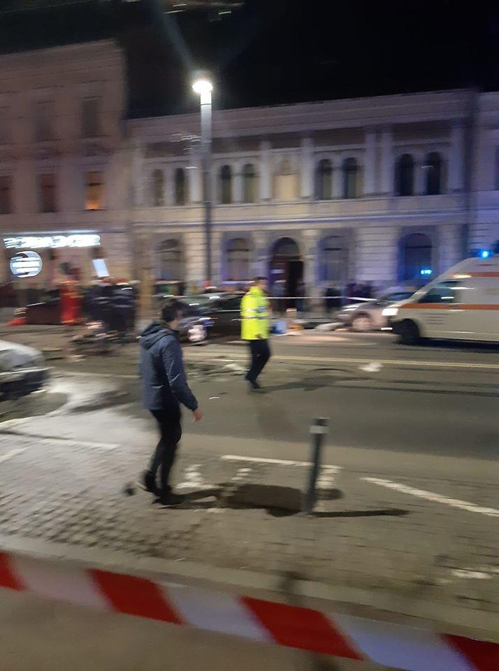 (Foto) Accident Cluj. Update 2. Șoferul de BMW de pe Horea a fugit dar a fost prins de un polițist aflat în timpul liber pe strada Racoviță. Șoferul era rupt de beat 7