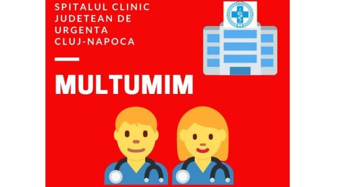 """Doneaza și tu pentru Spitalul Clinic Județean de Urgență Cluj-Napoca. """"Vineri, 20.03.2020, în contul RO24TREZ21620F370100XXXX, deschis la Trezoreria Cluj-Napoca, s-au strâns aproape 85.000 lei, din donații și sponsorizări făcute de 12 firme și 187 persoane fizice. Pe lângă ,,,"""" 1"""