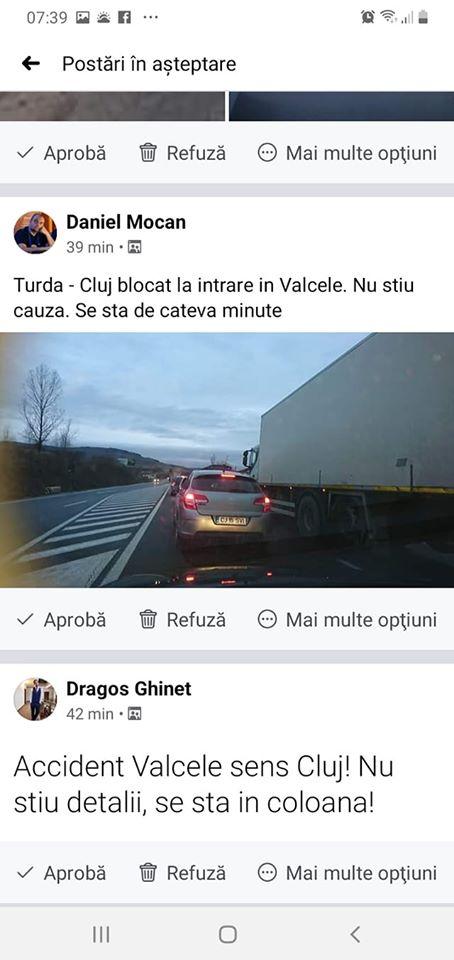 (Foto) Accident Cluj. Patru autovehicule s-au ciocnit la Vâlcele. Două persoane au fost transportate la spital 12