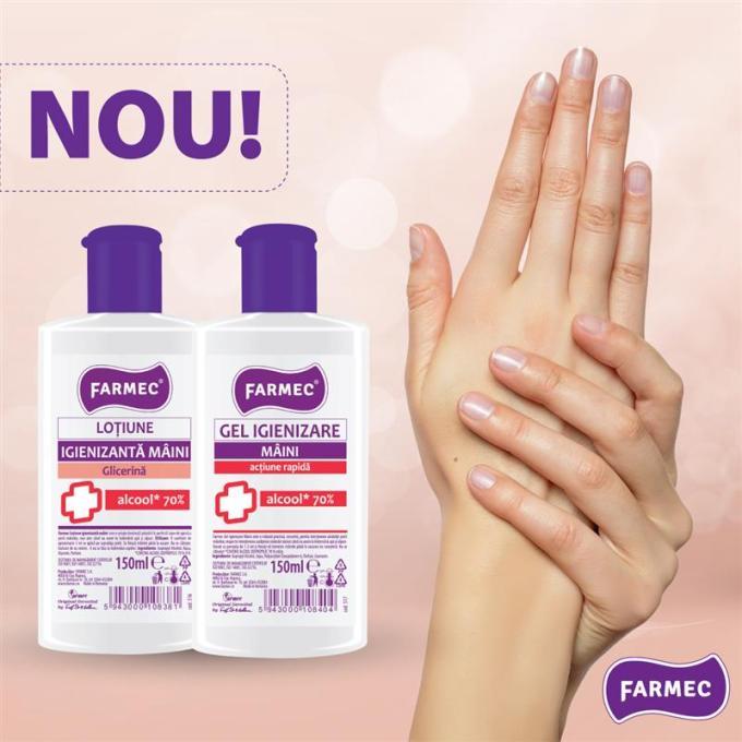 Farmec Cluj începe în regim de urgenţă producția a două noi produse igienizante pentru mâini, anti-coronavirus 1