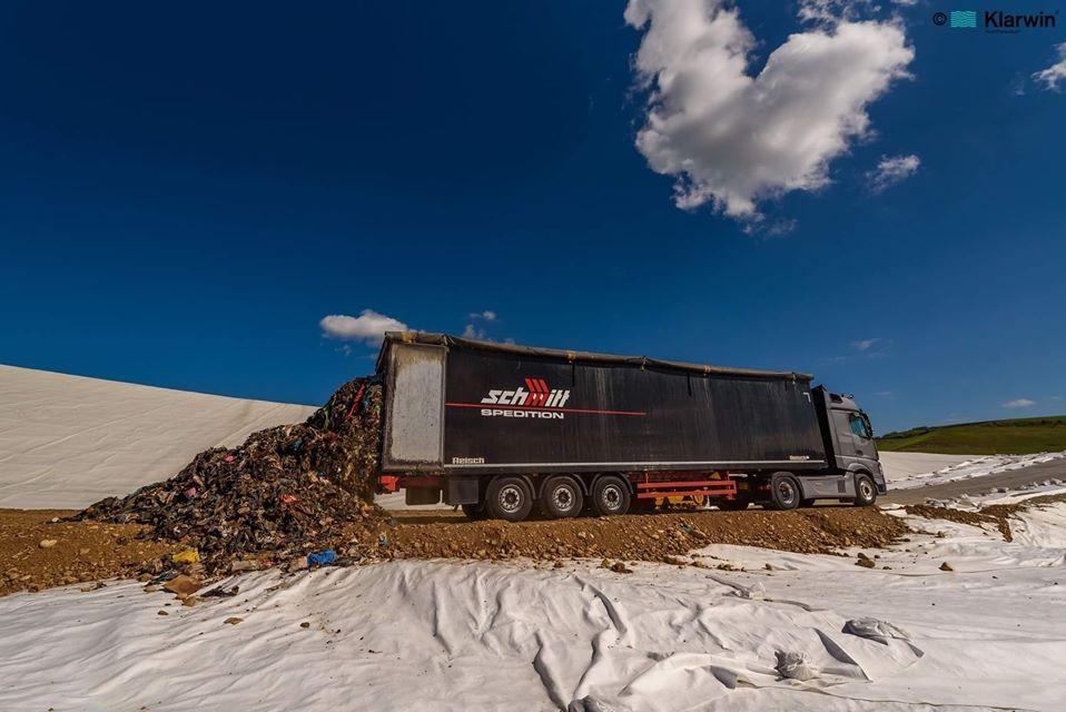 (Video/Foto) Cluj. Prima mașină de gunoi a intrat în noul Centru pentru Management Integrat al Deșeurilor 2