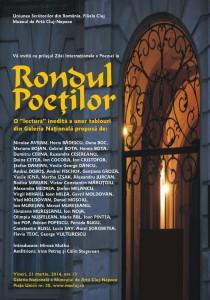 Afis Rondul poetilor 21 martie mc