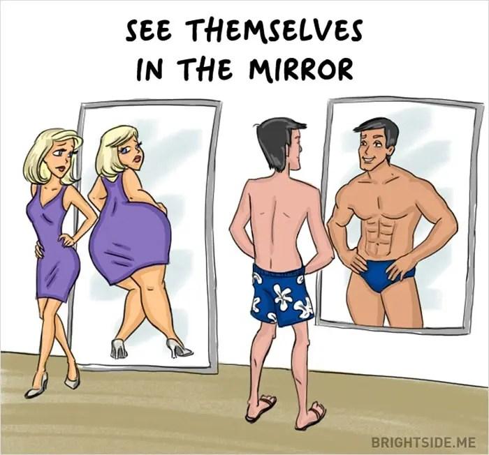 Femei VS Bărbaţi - 14 diferenţe ilustrate de un artist