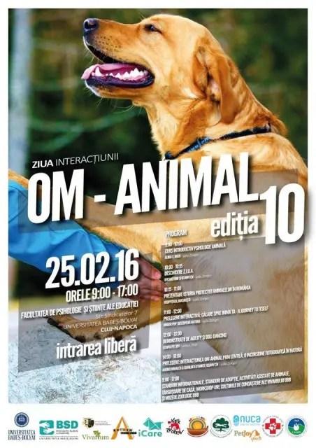 Ziua Interactiunii Om-Animal va fi marcata la Cluj-Napoca de studentii UBB si USAMV