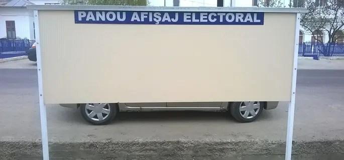afisajul electoral