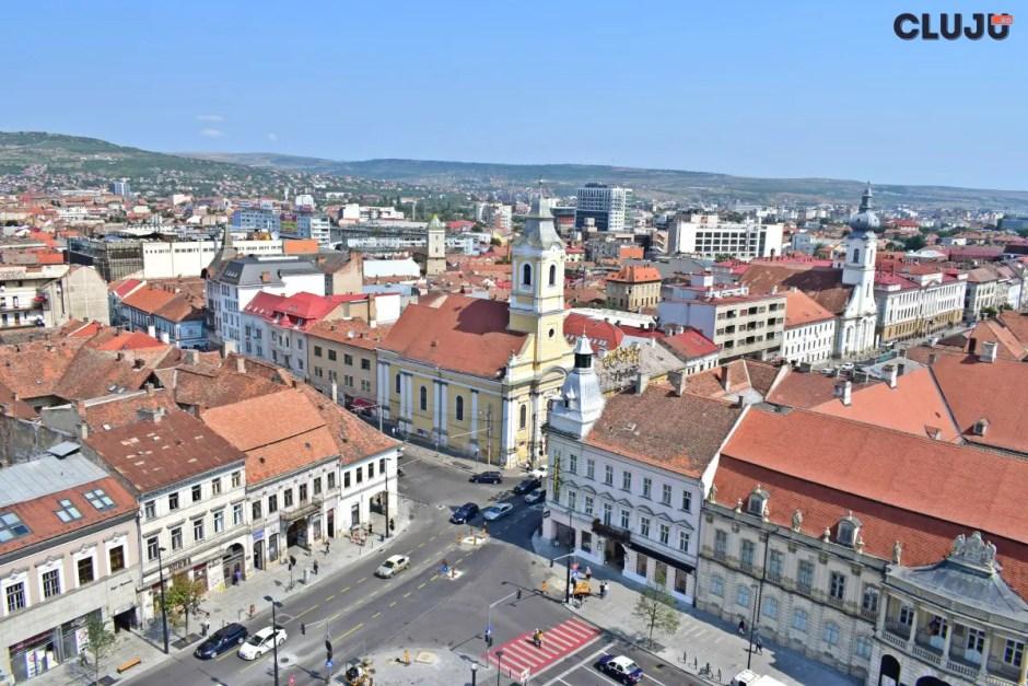 Clujul văzut din turnul Bisericii Sfântul Mihail