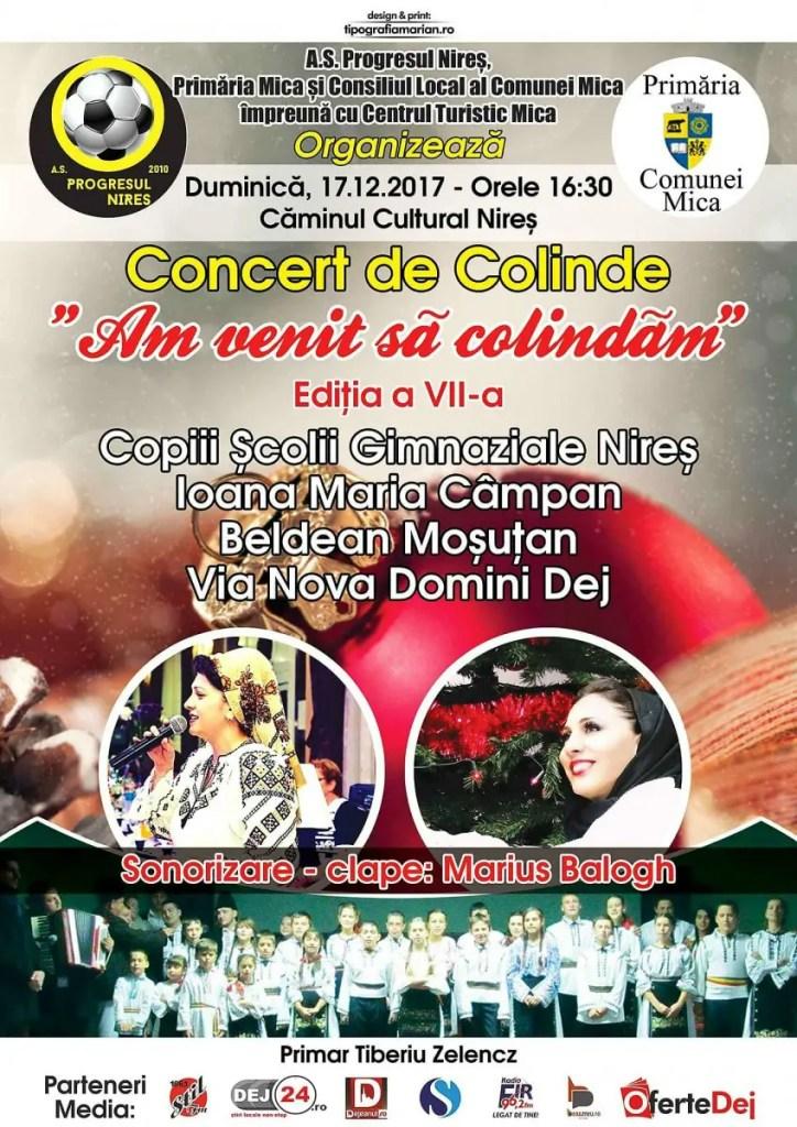 """Concert de colinde """"Am venit să colindăm"""" în comuna Mica"""